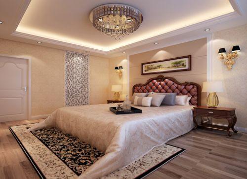 简欧风格三居室卧室飘窗装修效果图大全
