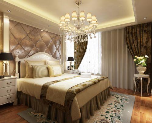 简欧风格二居室卧室床头柜装修效果图