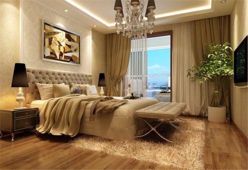 简欧风格三居室卧室照片墙装修图片