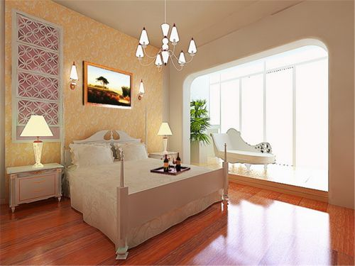 简欧风格五居室卧室榻榻米装修效果图欣赏