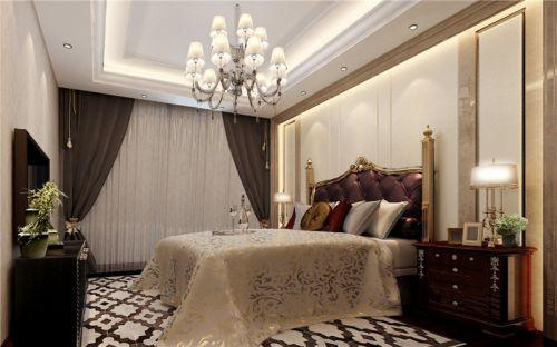 简欧风格五居室卧室飘窗装修图片