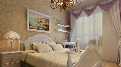 简欧风格二居室卧室照片墙装修图片