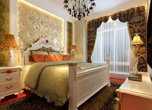 简欧风格一居室卧室吊顶装修效果图欣赏