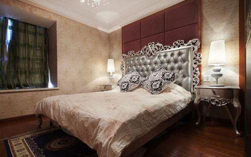 简欧风格二居室卧室背景墙装修效果图