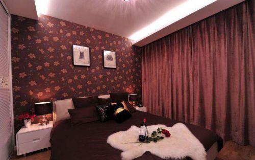 简欧风格一居室卧室床装修图片