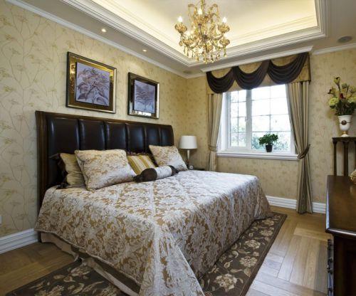 简欧风格三居室卧室床头柜装修效果图大全