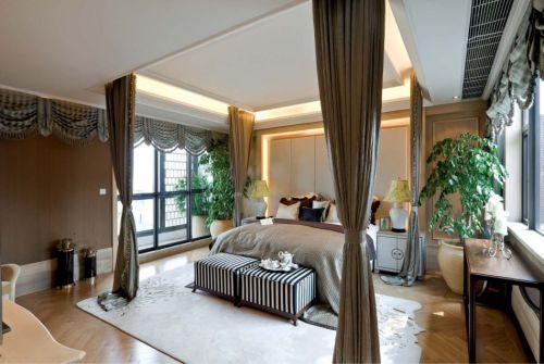 简欧风格三居室卧室飘窗装修效果图欣赏