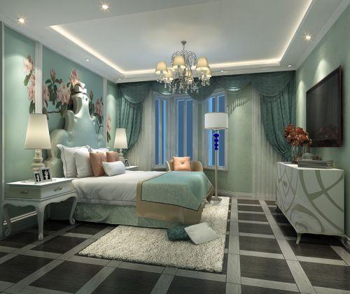 简欧风格二居室卧室飘窗装修图片