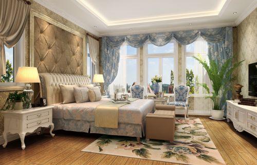 简欧风格五居室卧室飘窗装修效果图欣赏
