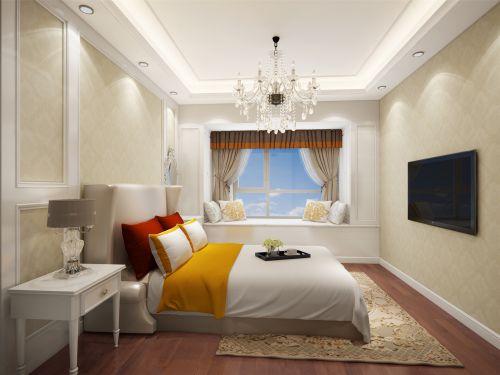简欧风格二居室卧室飘窗装修效果图欣赏