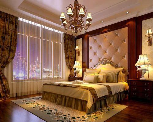 简欧风格三居室卧室吊顶装修图片