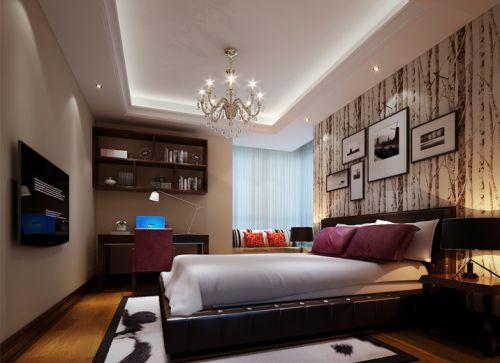 简欧风格四居室卧室吊顶装修效果图