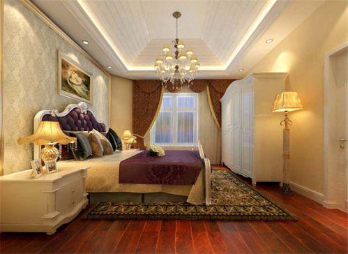 简欧风格五居室卧室吊顶装修效果图欣赏