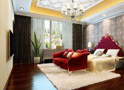 简欧风格二居室卧室照片墙装修效果图欣赏