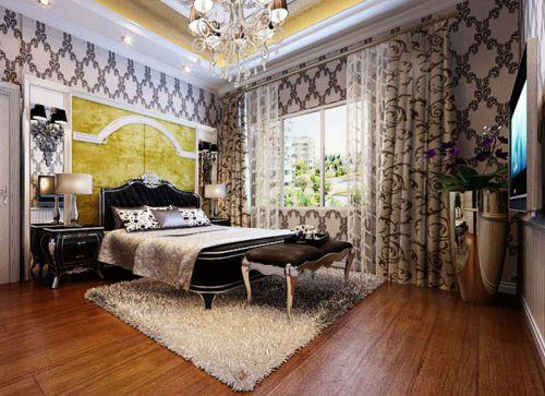 简欧风格二居室卧室榻榻米装修效果图欣赏