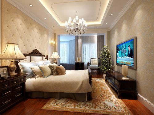 简欧风格五居室卧室背景墙装修效果图欣赏