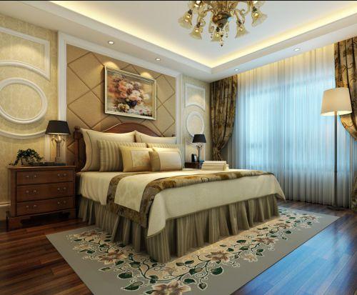 优雅温馨舒适简欧风格卧室效果图