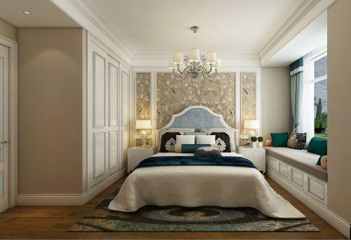 优雅秀丽简欧风格卧室飘窗实景效果图