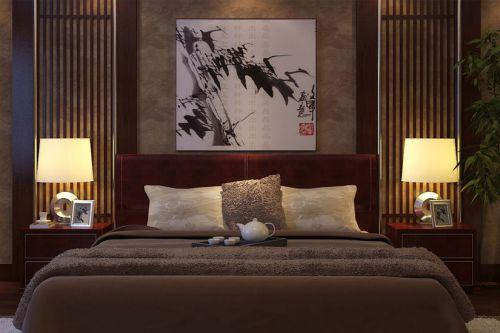 中式风格三居室卧室装修图片欣赏