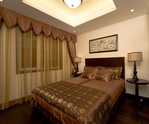 中式风格三居室卧室灯具装修效果图大全