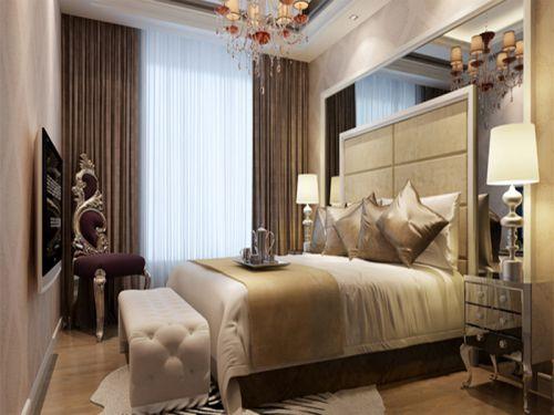 中式风格二居室卧室照片墙装修效果图欣赏