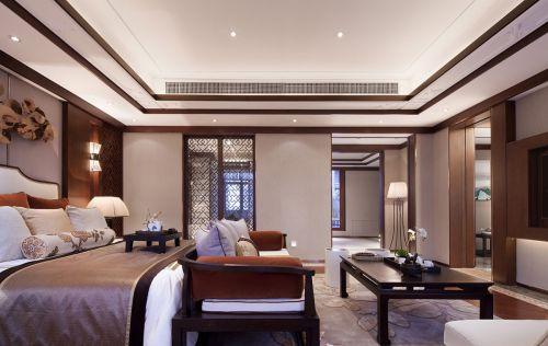 气质现代中式风格卧室装修实景图