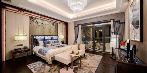 气质中式风格轻奢卧室背景墙装修设计
