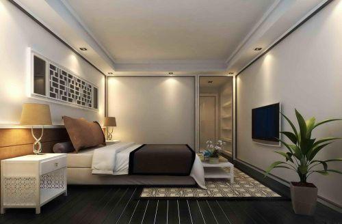 中式风格三居室卧室照片墙装修图片
