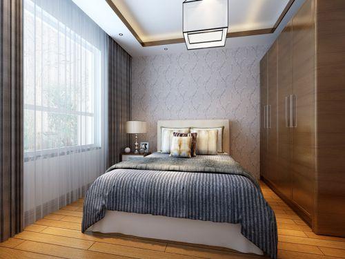 中式风格四居室卧室背景墙装修效果图大全