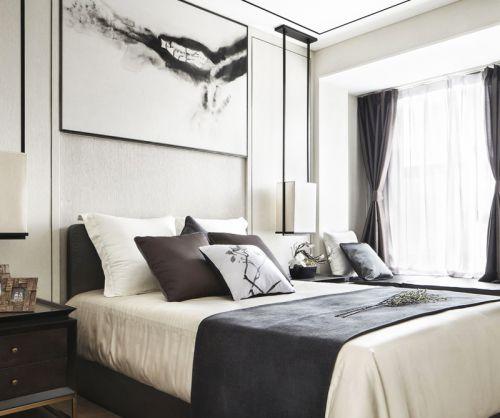 新中式时尚卧室装修效果图大全