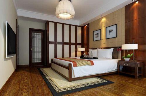 中式风格四居室卧室装修效果图