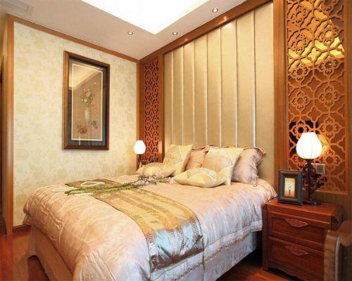 中式古典三居室卧室装修效果图大全