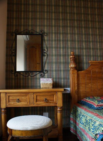 古朴中式风格卧室梳妆台效果图