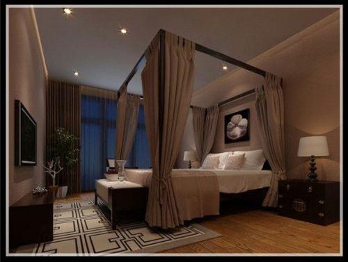 中式风格三居室卧室梳妆台灯具装修效果图大全