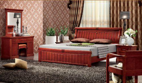 中式风格豪华卧室梳妆台效果图