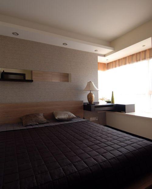 中式风格三居室卧室装修图片
