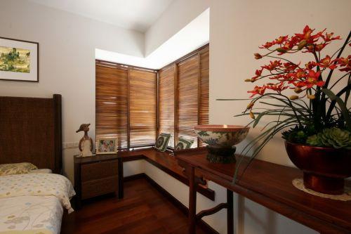 古韵盎然中式风格卧室飘窗实景效果图