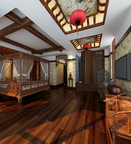 中式古典其它卧室壁纸装修效果图欣赏