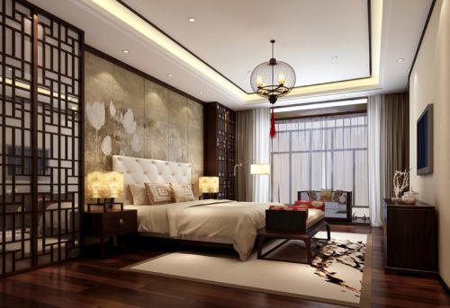 中式古典三居室卧室装修效果图