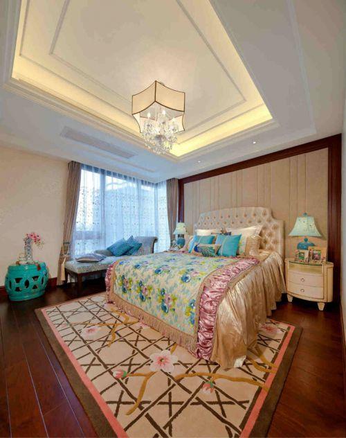 三居室卧室新中式装修样板间