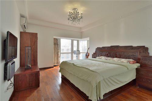 中式古典风格家装四居室卧室装修案例