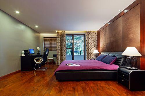 华丽中式风格别墅卧室装修效果图