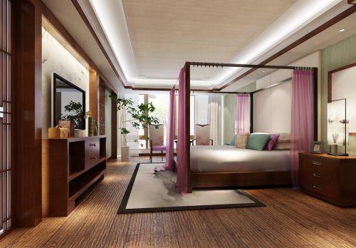 中式风格别墅卧室装修效果图欣赏