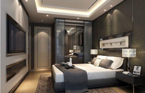 中式风格四居室卧室装修效果图大全