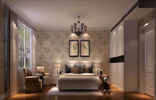中式风格四居室卧室照片墙装修效果图大全