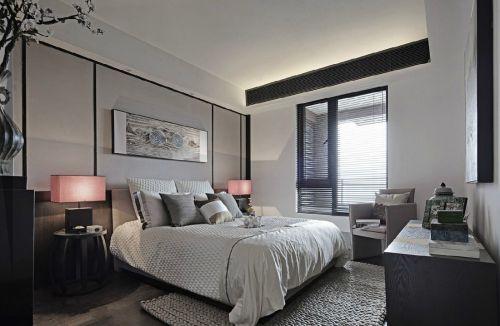 时尚中式风格别墅卧室装修案例