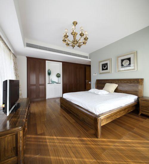 家装中式风格三居室卧室装修案例