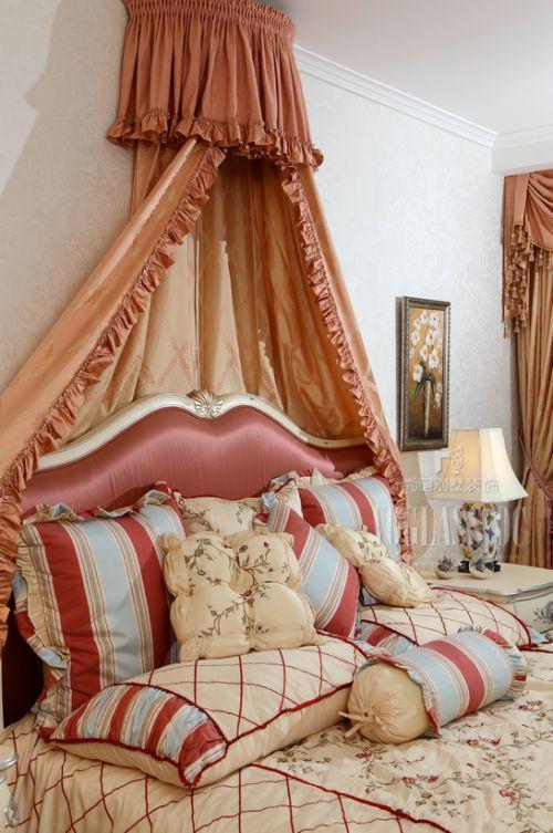 中式古典别墅卧室装修效果图欣赏