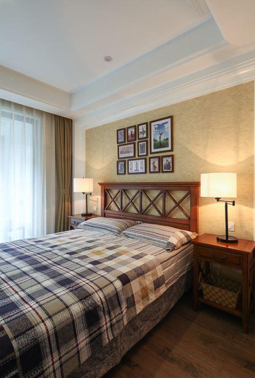 家装中式风格卧室灯具装修案例