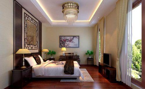 中式古典六居室以上卧室装修图片